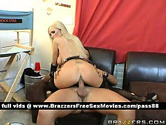 Horny naked blonde slut on...