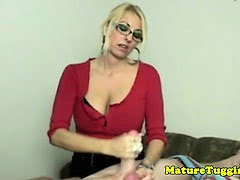 Blonde cougar with spex...